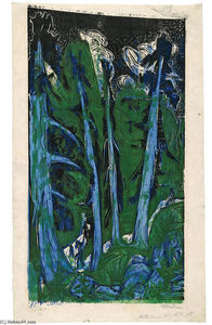 Ernst Ludwig Kirchner - Windswept Firs