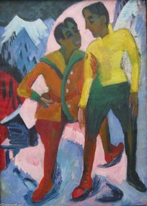 Ernst Ludwig Kirchner - Two Brothers