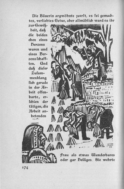 Book illustration side of the military road, 1923 by Ernst Ludwig Kirchner (1880-1938, Germany)