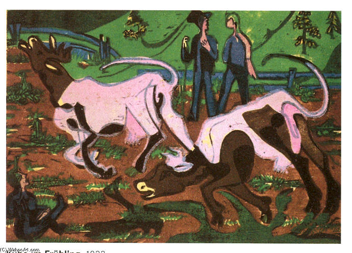 Cattles in the Spring, 1933 by Ernst Ludwig Kirchner (1880-1938, Germany)