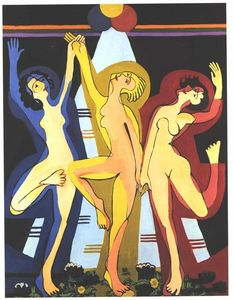 Ernst Ludwig Kirchner - Colourful Dance