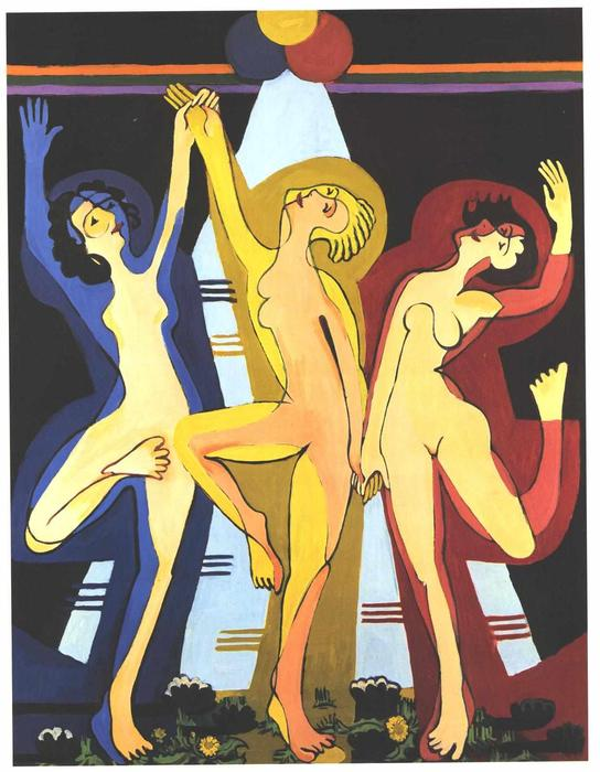 Colourful Dance by Ernst Ludwig Kirchner (1880-1938, Germany)
