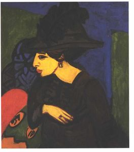 Ernst Ludwig Kirchner - Dodo with a Big Feather Hat