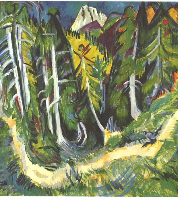 Forest Gorge by Ernst Ludwig Kirchner (1880-1938, Germany)