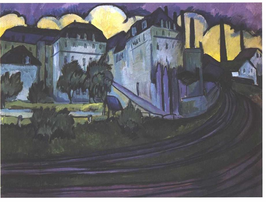 Gateway to the freight depot in Altstadt by Ernst Ludwig Kirchner (1880-1938, Germany)