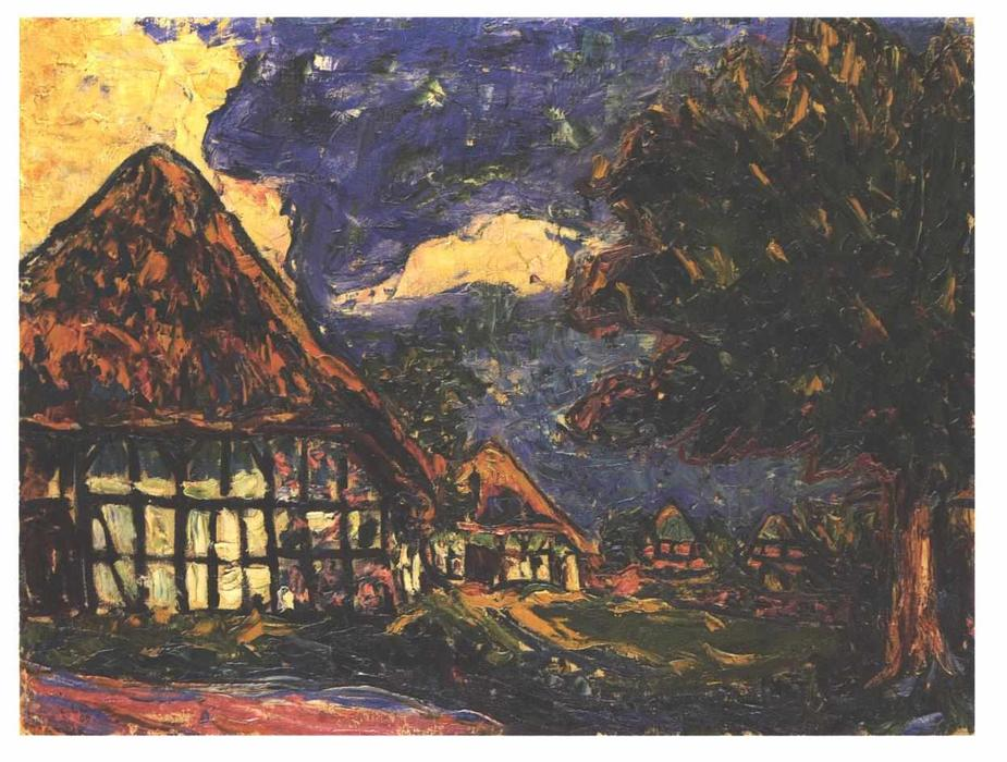 House on Fehmarn by Ernst Ludwig Kirchner (1880-1938, Germany)