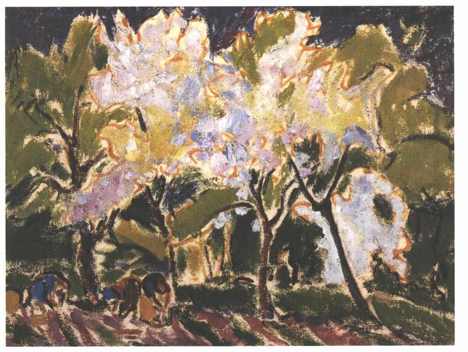 Landscape in the Spring by Ernst Ludwig Kirchner (1880-1938, Germany)