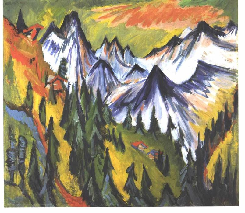 Mountain Top by Ernst Ludwig Kirchner (1880-1938, Germany) | WahooArt.com