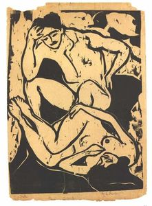 Ernst Ludwig Kirchner - Nacked Couple on a Couch