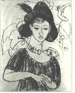 Ernst Ludwig Kirchner - Portrait of Dodo with Hat