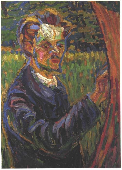 Portrait of Erich Heckel at the Easel by Ernst Ludwig Kirchner (1880-1938, Germany)