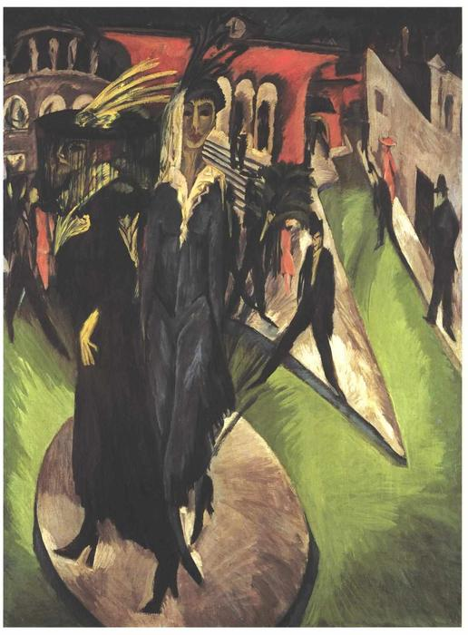 Postdamerplatz by Ernst Ludwig Kirchner (1880-1938, Germany)