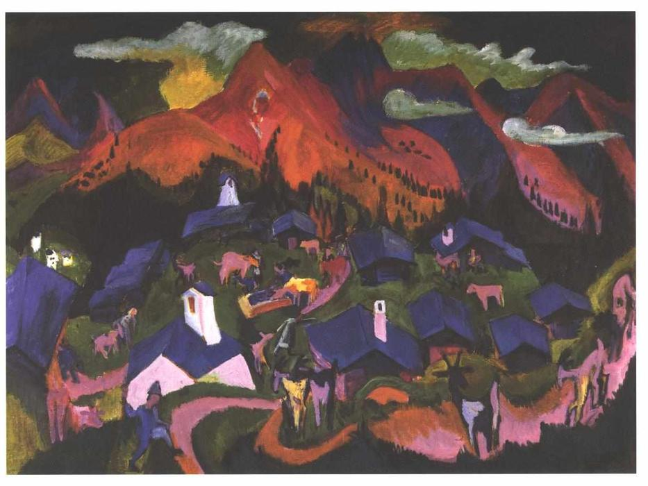 Return of the Animals by Ernst Ludwig Kirchner (1880-1938, Germany) | WahooArt.com