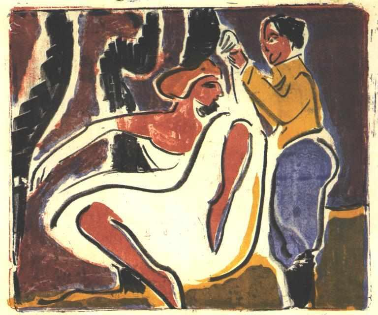 Russian Dancer by Ernst Ludwig Kirchner (1880-1938, Germany)