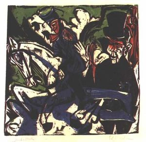 Ernst Ludwig Kirchner - Schlemihls Entcounter with Small Grey Man