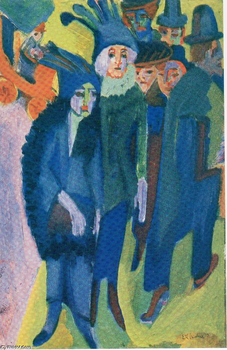 Street Scenes by Ernst Ludwig Kirchner (1880-1938, Germany)