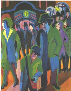 Ernst Ludwig Kirchner - Street with Passangers
