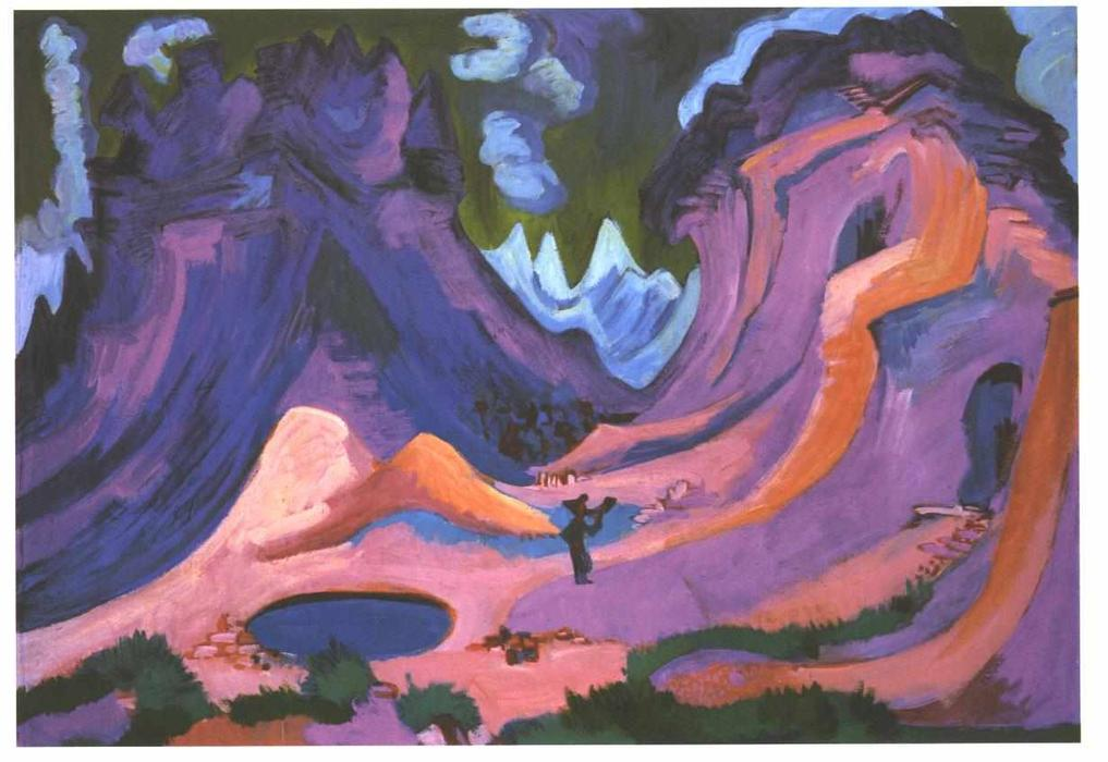 The Amselfluh by Ernst Ludwig Kirchner (1880-1938, Germany) | Famous Paintings Reproductions | WahooArt.com