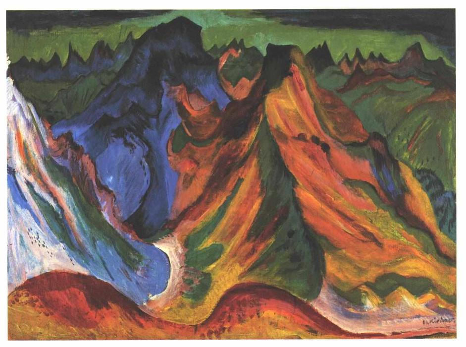 The Mountain by Ernst Ludwig Kirchner (1880-1938, Germany)