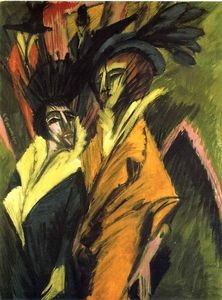 Ernst Ludwig Kirchner - Two Women at the Street