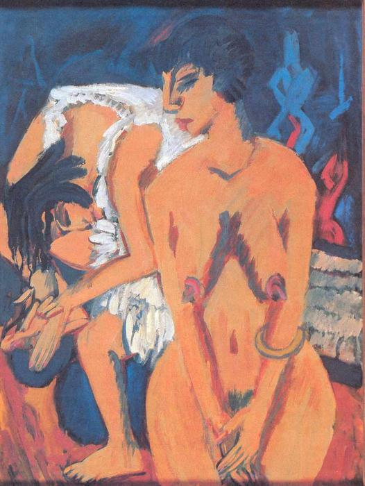 Women by Ernst Ludwig Kirchner (1880-1938, Germany) | WahooArt.com