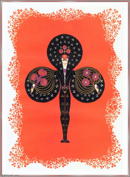 Ace Of Clubs by Erté (Romain De Tirtoff) (1892-1990, Russia) | Oil Painting | WahooArt.com
