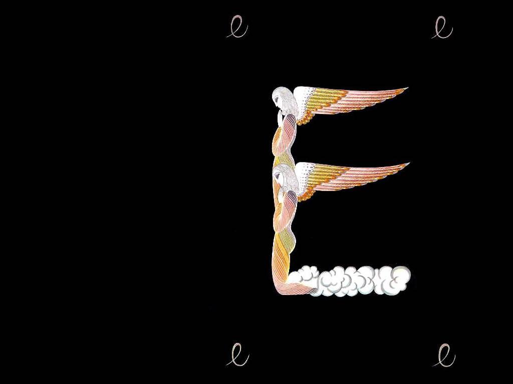Alphabet E By Erte Romain De Tirtoff 1892 1990 Russia