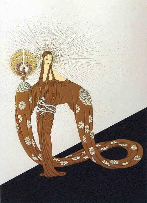 Celestial Virtues by Erté (Romain De Tirtoff) (1892-1990, Russia) | Painting Copy | WahooArt.com