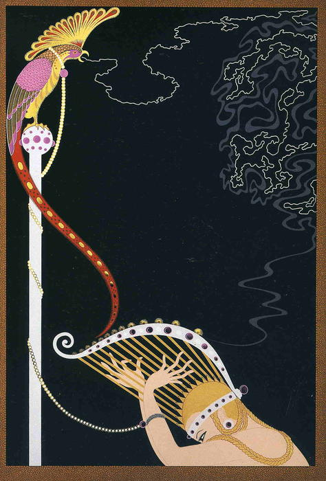 Enchanted Melody by Erté (Romain De Tirtoff) (1892-1990, Russia) | Famous Paintings Reproductions | WahooArt.com