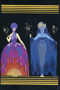 Erté (Romain De Tirtoff) - Evening Night