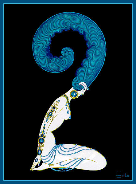 Number 2 by Erté (Romain De Tirtoff) (1892-1990, Russia) | Oil Painting | WahooArt.com
