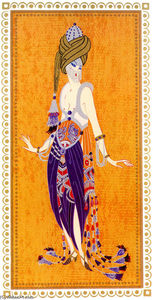 Erté (Romain De Tirtoff) - Sheerazade, A Thousand and One Nights