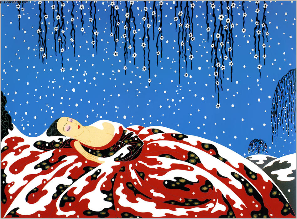 Sleeping Beauty by Erté (Romain De Tirtoff) (1892-1990, Russia) | Oil Painting | WahooArt.com