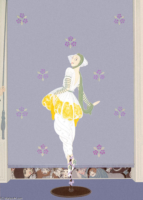 Spring Fashions by Erté (Romain De Tirtoff) (1892-1990, Russia) | Painting Copy | WahooArt.com