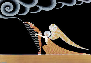 Erté (Romain De Tirtoff) - The Angel