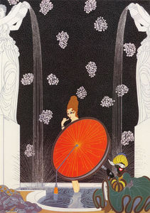 Erté (Romain De Tirtoff) - The Bath of the Marquise