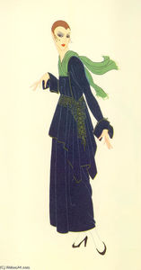 Erté (Romain De Tirtoff) - The Blue Dress