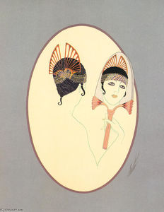 Erté (Romain De Tirtoff) - The Mirror