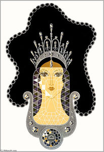 Erté (Romain De Tirtoff) - The Precious Stones, Diamond
