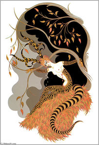 Erté (Romain De Tirtoff) - The Seasons, Autumn