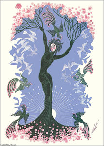 Erté (Romain De Tirtoff) - The Seasons, Spring