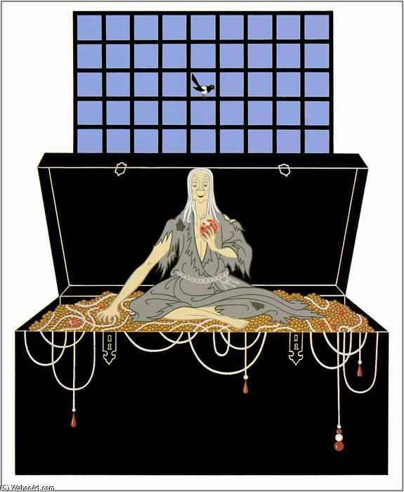 The Seven Deadly Sins, Avarice by Erté (Romain De Tirtoff) (1892-1990, Russia) | Art Reproduction | WahooArt.com