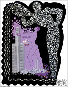 Erté (Romain De Tirtoff) - The Zodiac, Aquarius