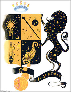 Erté (Romain De Tirtoff) - The Zodiac, Leo