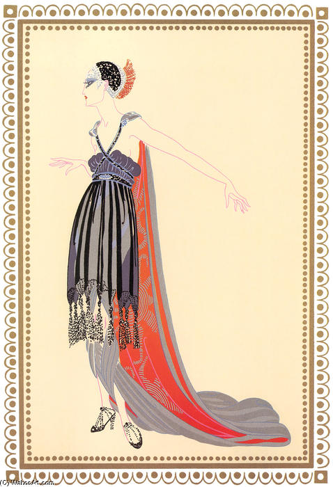 Vamps, Seductress by Erté (Romain De Tirtoff) (1892-1990, Russia) | Museum Quality Reproductions | WahooArt.com