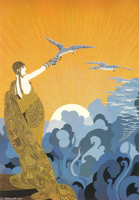 Wings of Victory by Erté (Romain De Tirtoff) (1892-1990, Russia) | Famous Paintings Reproductions | WahooArt.com
