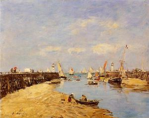 Eugène Louis Boudin - Trouville, the Jetty and the Basin