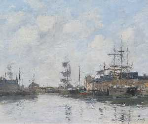 Eugène Louis Boudin - The Basin at Fecamp
