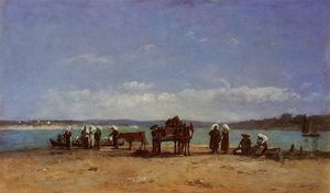 Eugène Louis Boudin - The Breton Fishermen-s Wives