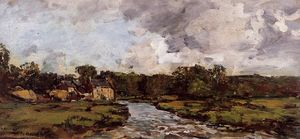 Eugène Louis Boudin - River near hospital